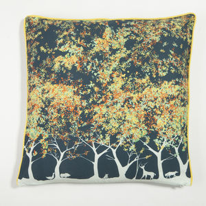 Forest Print Cushion - decorative accessories