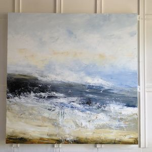 Timeless Original Abstract Seascape Painting - paintings & canvases