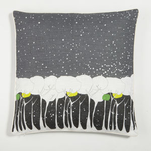 Snowstorm Print Cushion - patterned cushions