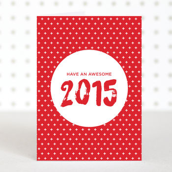 'Awesome 2015' Christmas Card