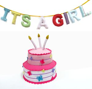 'It's A Girl' Bunting - bunting & garlands