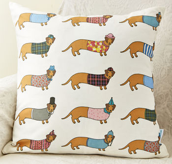 Dachshund Pattern Cushion