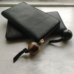Anna Leather And Polished Horn Wallet