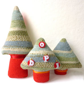 Christmas Family Tree Knitting Kit - christmas trees