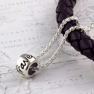 'Travel Safe' Solid Silver Mojo Charm Necklace - necklaces & pendants