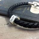 Personalised Travel Leather Bracelet