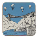 Clifton Balloons Pale Blue Coaster