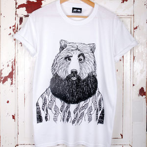 Bearded Bear T Shirt - beard & moustache gifts