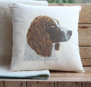 Springer Spaniel Cushion Cover - patterned cushions