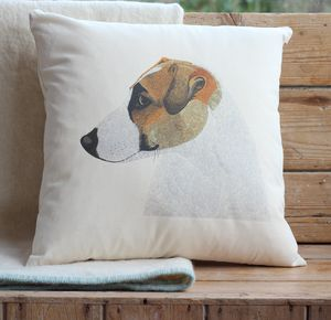 Jack Russell Cushion Cover With Inner Option - patterned cushions