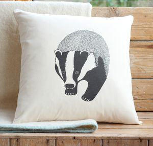 Badger Cushion Cover With Inner Option - cushions