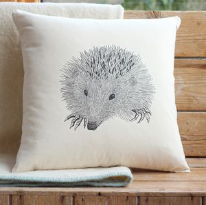 Hedgehog Cushion Cover With Inner Option - cushions