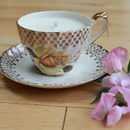 Golden Rose Vintage Teacup Candle