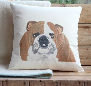 Bulldog Cushion Cover Wth Inner Option - cushions