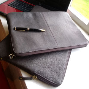Ladbroke: Luxurious Leather Laptop Sleeve