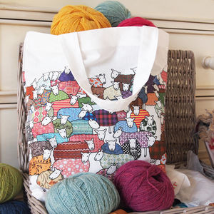Colourful Sheep Bag - laundry room