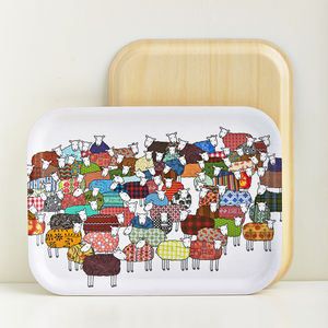 Colourful Sheep Tray - dining room