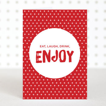 'Enjoy' Christmas Cards