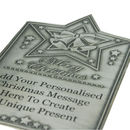 Personalised Christmas Wine Or Spirit Pewter Label