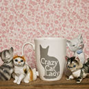 Crazy Cat Lady Bone China Mug With Free Cat Hair