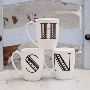 Initial Mugs - mugs