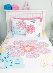 Daisy Floral Quilted Cushion - cushions