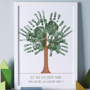 Personalised Hand Print Tree Poster - personalised gifts for grandparents