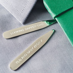 Silver Collar Stiffeners - personalised