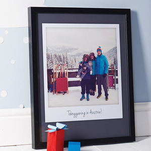 Personalised Giant Polaroid Style Print - gifts for fathers