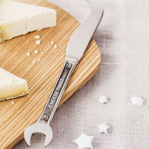 Spanner Cheese Knife - gifts under £25 for him