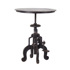 Round Industrial Side Table - side tables