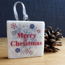 Personalised Marble Christmas Decoration