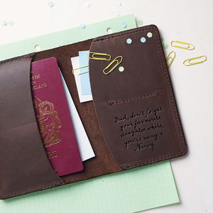 Leather Travel Wallet - personalised