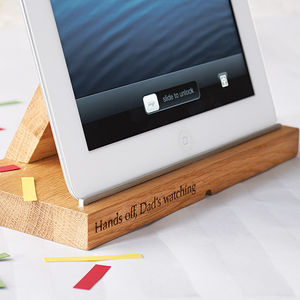 Oak Tablet Docking Station - last-minute christmas gifts for her