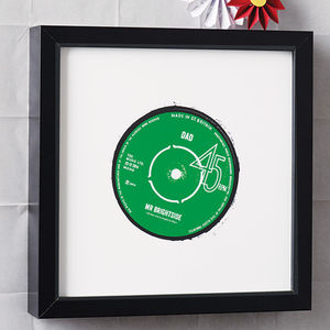 Personalised Record Label Print - music-lover