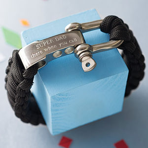 Personalised Paracord Survival Bracelet - gifts by interest