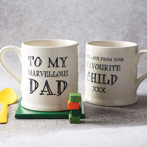 Favourite Child Mug - gifts for fathers