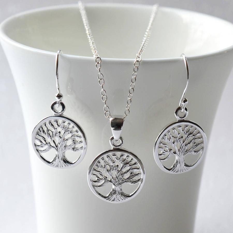 Silver Tree Of Life Jewellery Set By Martha Jackson