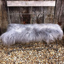 Grey Icelandic Sheepskin Rug