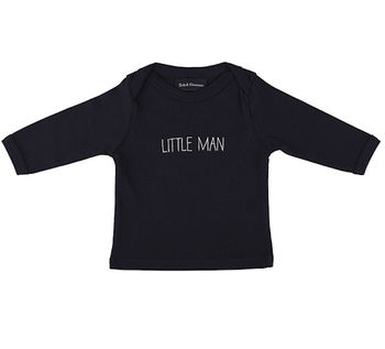 Navy 'Little Man' Baby T