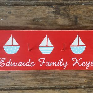 Sailboat Key Rack - storage & organising