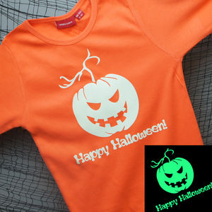 Personalised Glow In The Dark Halloween T Shirt - baby's first halloween