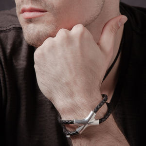 Crossover Bracelet Large - men's jewellery