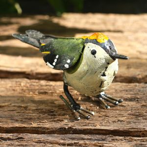 Handpainted Goldcrest Garden Sculpture - art & decorations