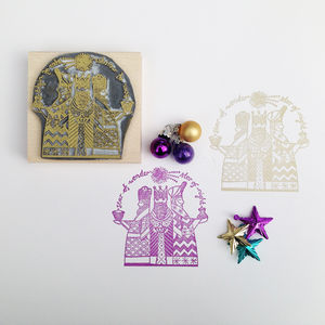 Three Kings Christmas Rubber Stamp - cards & wrap