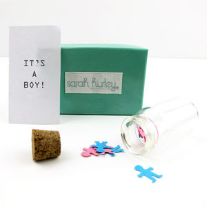 Baby Reveal Letter In A Bottle - pregnancy announcements