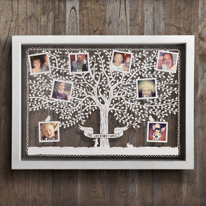 Large Personalised Family Tree Photo Papercut