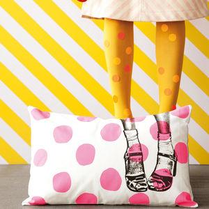 Clogs Pois Pink Cushion