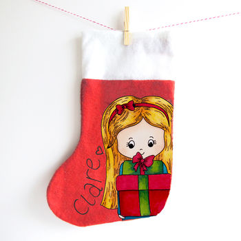Charm Street Cuties Personalised Christmas Stocking