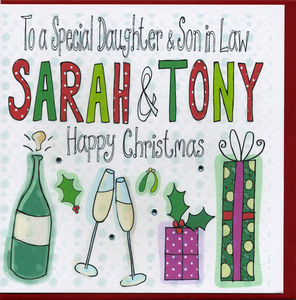 Personalised Daughter And Son In Law Christmas Card
